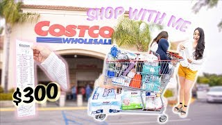 Shop With Me At COSTCO! MONTHLY Shopping for Family of 5 $300 Worth