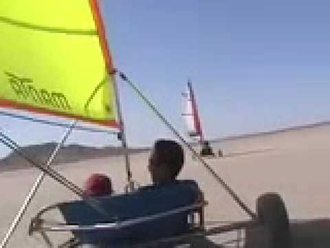 Landsailing at El Mirage
