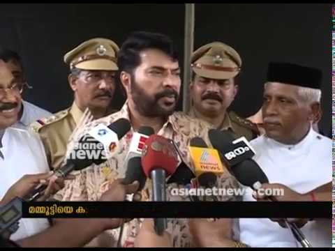 Tribals visits Mammootty with organic vegetables