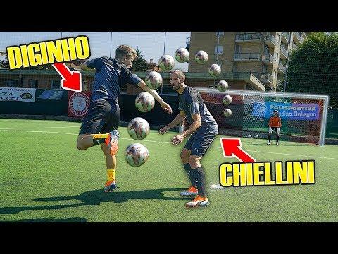 I2BOMBER vs CHIELLINI - Sfidiamo il Difensore della JUVENTUS