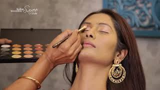 Step by Step Diwali Makeup Tutorial 2018 | Diwali Makeup Tips | Indian Wedding Saree