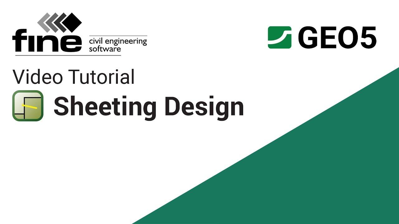 GEO5 Tutorials: Designing a Sheet Pile Wall in Sheeting Design