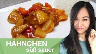 Gambar cover REZEPT: Hähnchen süß sauer | chinesisches Essen