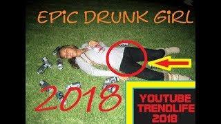 Hot drunk girl fail compilation  december 2018 Funny Girls teen