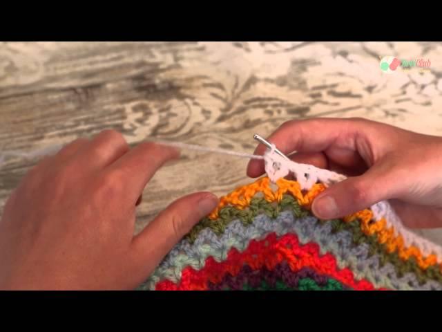 De V stitch haken