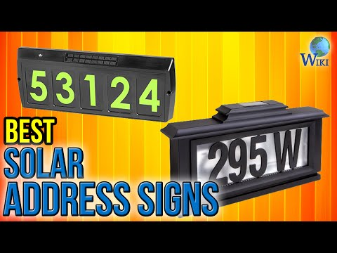 7 Best Solar Address Signs 2017