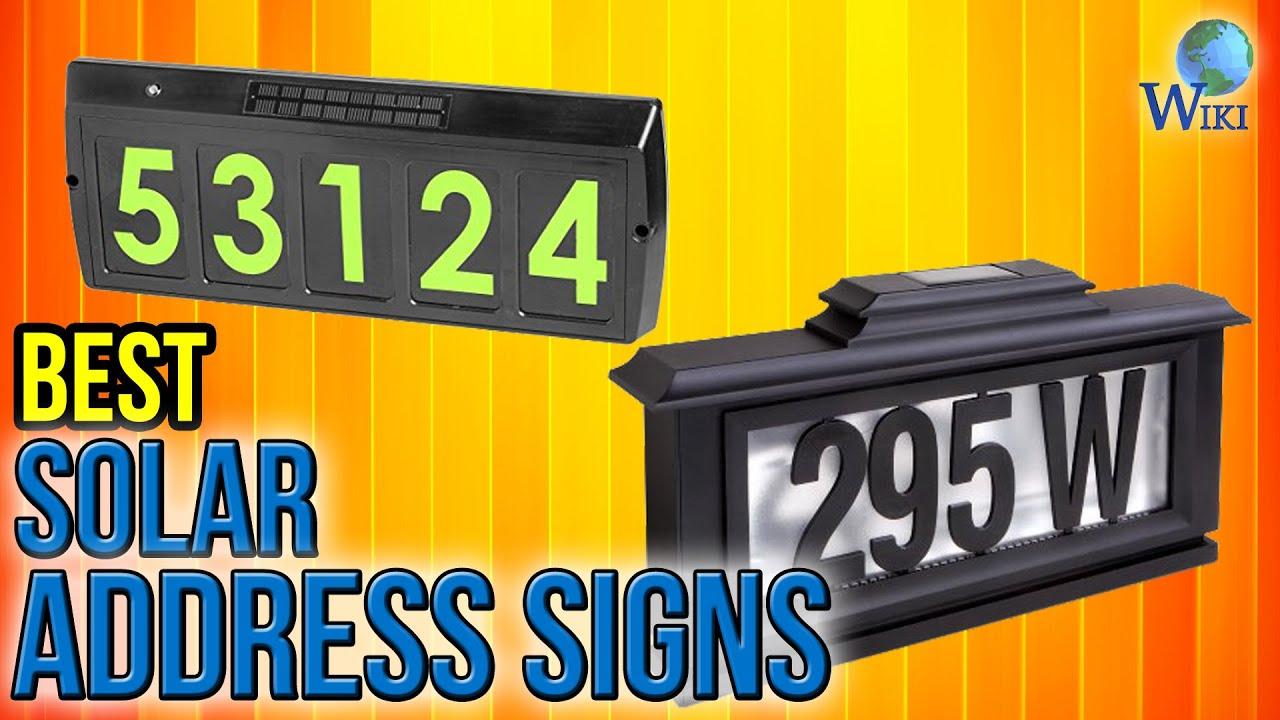 7 Best Solar Address Signs 2017