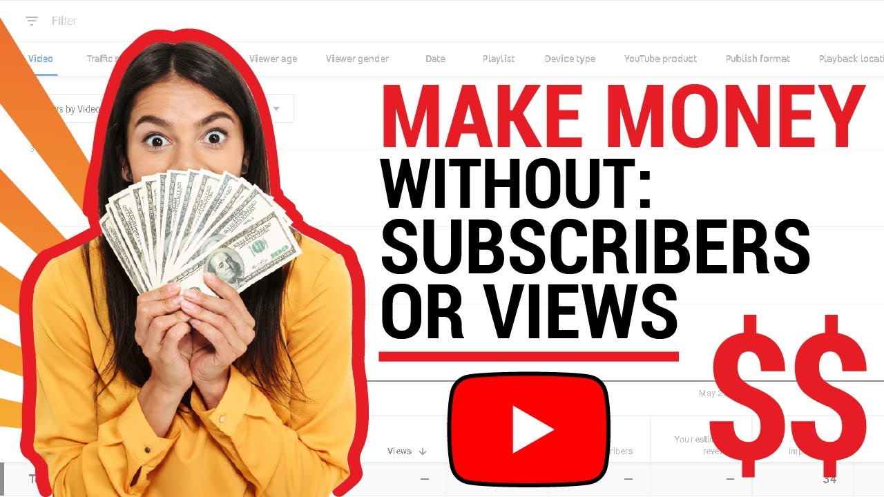 YouTube   Make Money WITHOUT Subscribers, or Views!