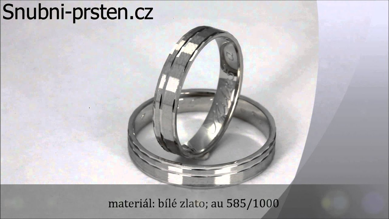 Zorbicus Moderni Snubni Prsteny Z Bileho Zlata Youtube