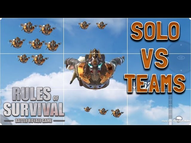 SOLO VS TEAM MONTAGE! - Rules of Survival