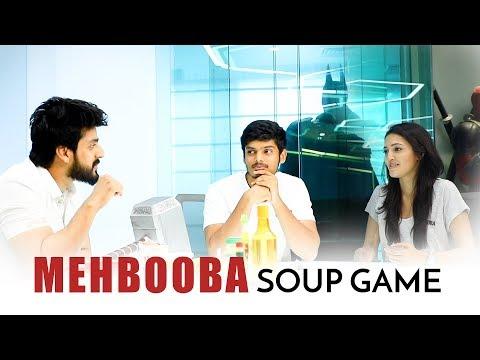 Team #Mehbooba Soup Game Full video   Akash Puri   Neha Shetty   Vishu Reddy  