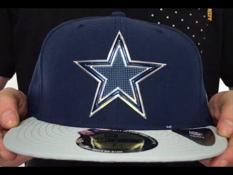 Cowboys  2015 NFL DRAFT  Navy-Grey Fitted Hat by New Era - YouTube aaacf5a04c87