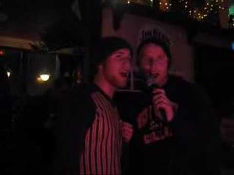Karaoke at Edinburgh Pub on New Year's Eve