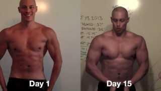 Day 15 (shirt-off Vegan Results Update) - My Vegan Bodybuilding Transformation