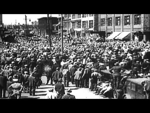 The General Strike in San Francisco, during July 1934 HD Stock Footage