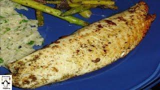 Блюда из рыбы рецепты с фото.Белая рыбка с маслом и травами
