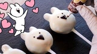 노오븐 디저트???? '오버액션토끼' 케익팝 만들기 (초간단! 초귀염! 케이크팝 만들기) :: 순백설탕 베이킹