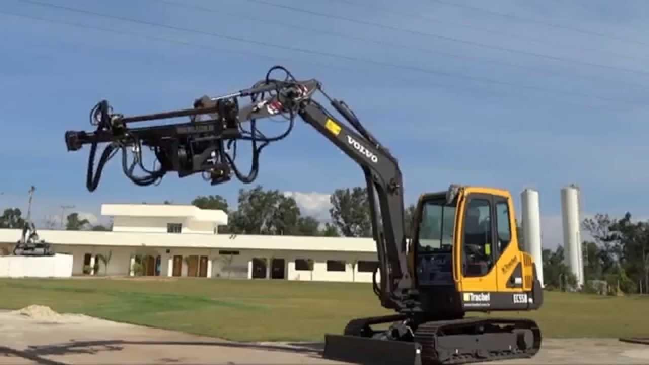 Versatile Amp Efficient Mini Excavator Mounted Drilling Rig