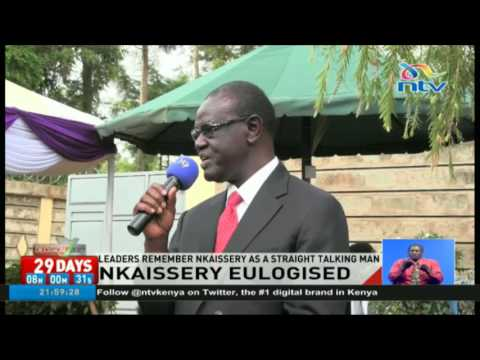 Leaders remember Nkaissery as a straight talking man