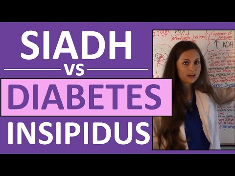 SIADH vs Diabetes Insipidus DI | Endocrine System Nursing NCLEX