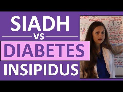 SIADH vs Diabetes Insipidus DI | Endocrine System Nursing NCLEX