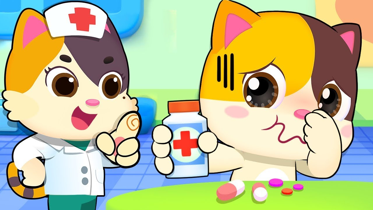 Take Medicine When You Are Sick Sick Song Nursery Rhymes Kids Songs Baby Cartoon Babybus Youtube