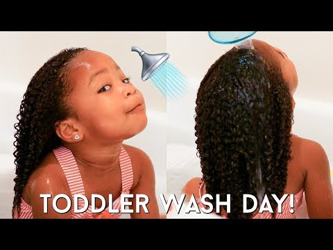 Toddler Curly Hair Wash Day Routine   Kid Friendly Tutorial For Easy Detangling + Moisturized Curls!