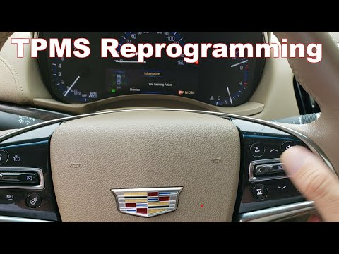 TPMS Sensor Reprogramming Chevy, Cadillac, Pontiac (Relearn TPMS On Cadillac ATS)