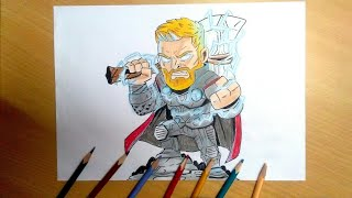 How to draw Thor -Avengers infinity war (HAC)