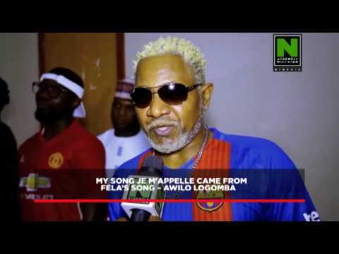 My Song Je M'Appelle Is From Fela's Song - Awilo Longomba