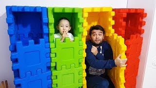 Dad Pretend Play Hide and Seek with Öykü Toy for kids - Funny Oyuncak Avı