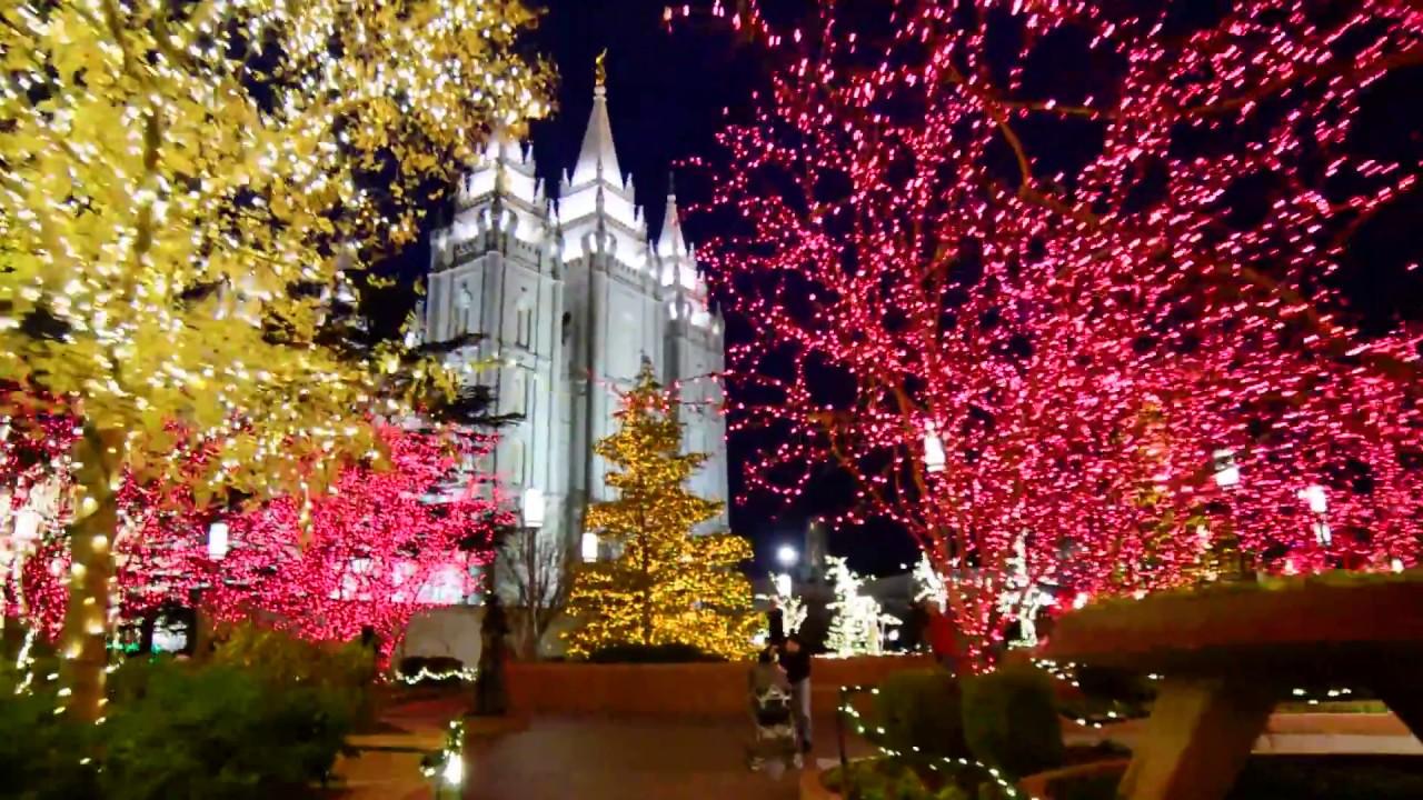 Temple Square Salt Lake City Christmas Lights.Christmas Lights At Temple Square