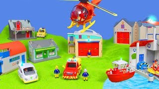 Feuerwehrmann Sam Unboxing: Neue Feuerwehr Rescue Station & Feuerwehrauto für Kinder deutsch
