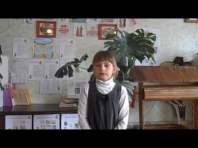 Изображение предпросмотра прочтения – ДарьяКудрицкая читает произведение «Зима недаром злиться...» Ф.И.Тютчева