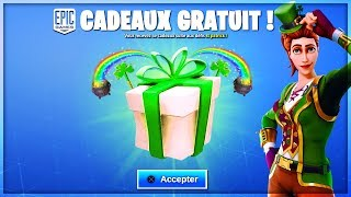 "VOICI THE FREE CADEAUX of the ""SAINT PATRICK"" on Fortnite!"