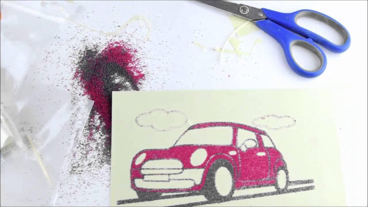 Tuz Boyama Nasıl Yapılır How To Do Salt Painting Youtube