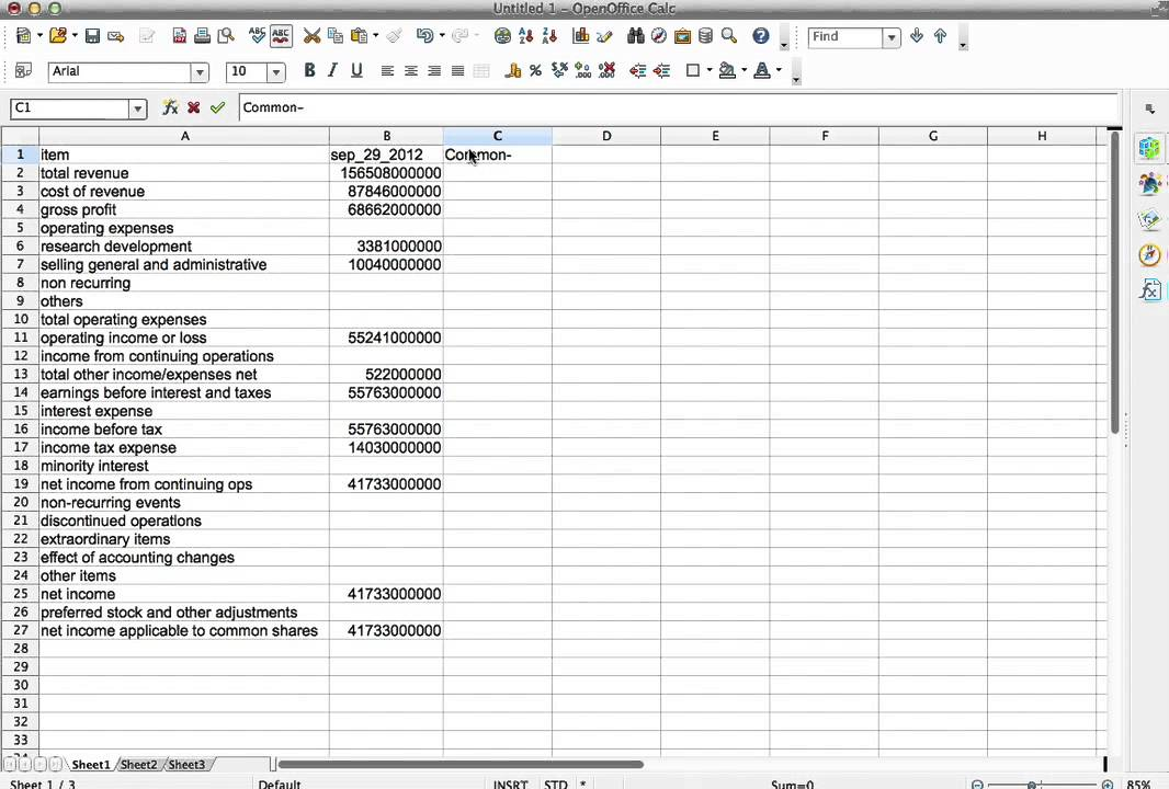 Calculating standardized (common size) income statement with mfd_dm - common size income statement template excel