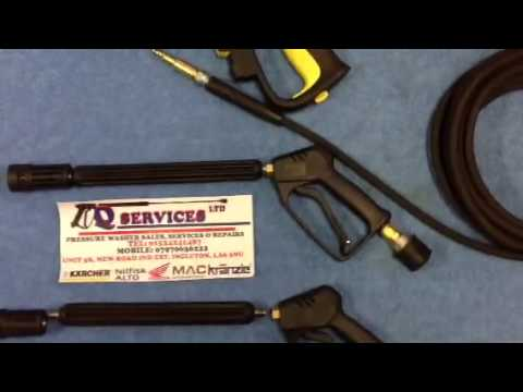 QWASHERS YOUTUBE KARCHER K SERIES TRIGGER GUN REPLACEMENT INDUSTRIAL QUALITY