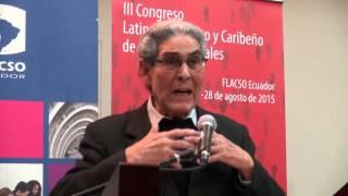 Aníbal Quijano en el III Congreso Latinoamericano y Caribeño de Ciencias Sociales