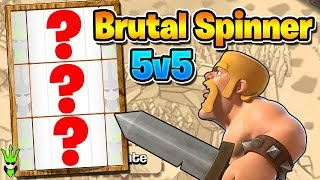 THE RANDOM SPINNER IS BRUTAL! - 5v5 Friday War! - Clash of Clans - Random Army Generator