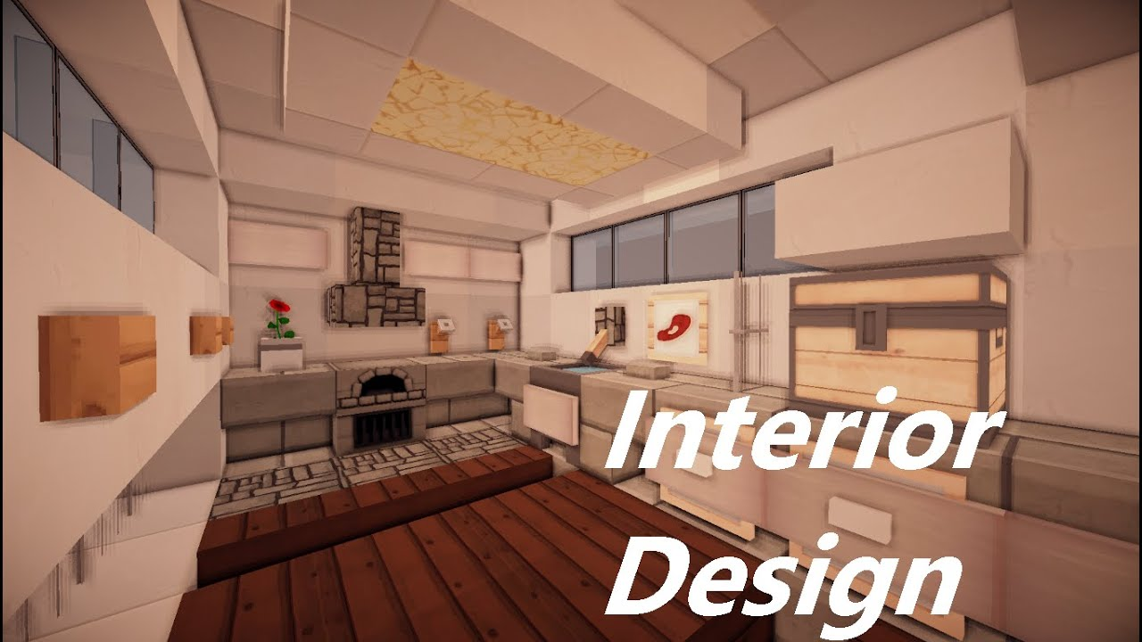 Let 39 s show 02 minecraft small modern house for Modern house interior design minecraft
