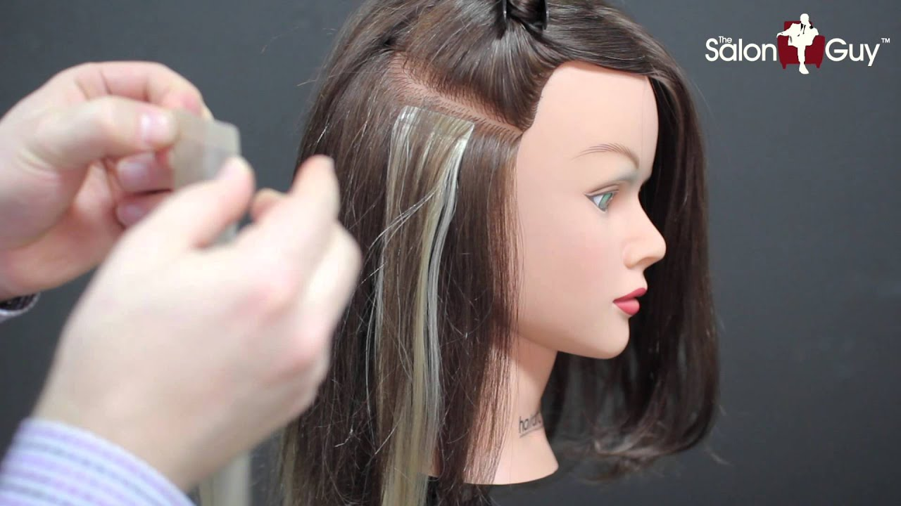 Hair Extension Fun Tape On Extensions Demo Youtube