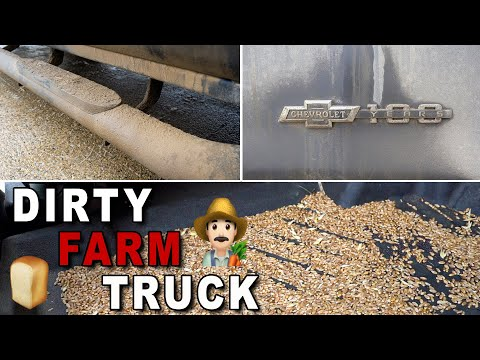 Deep Cleaning A DIRTY Farm Truck | Satisfying Car Detailing Of A Silverado!