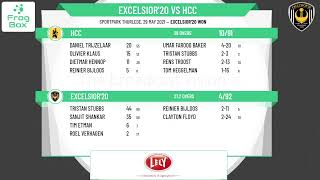 🔴LIVE: Excelsior'20 vs HCC   KNCB Topklasse Round 7   Royal Dutch Cricket   29-05-2021
