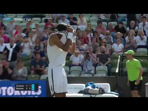 Fun Dustin Brown Points And Moments In Win Over Zverev | Stuttgart 2019