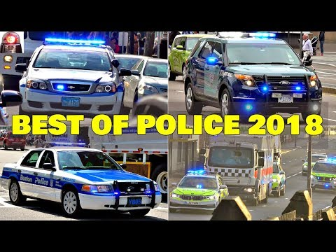 Police Car Responding Compilation BEST OF 2018 (2) - GREAT SIRENS
