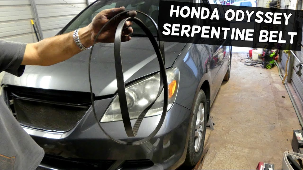 HONDA ODYSSEY 35 SERPENTINE BELT REMOVAL REPLACEMENT DIAGRAM  YouTube