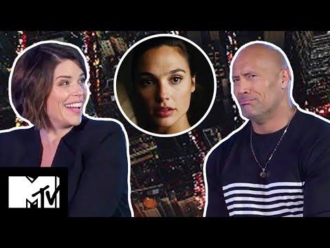 Skyscraper: Dwayne Johnson & Neve Campbell Play Snog/Marry/Avoid: ACTION HERO Edition   MTV Movies