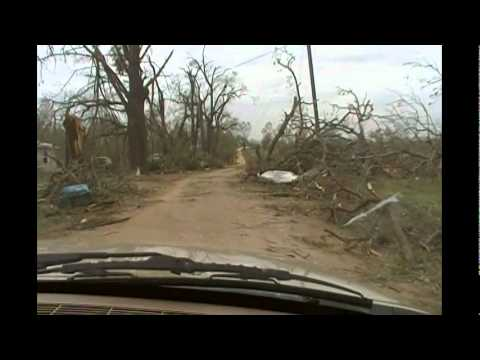 Atoka County (Tushka) Oklahoma Tornado Damage 4-14-11 Part 2