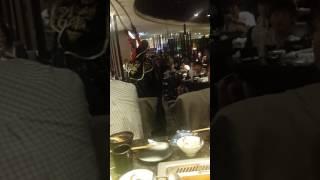 台灣台北海底撈京劇變臉秀20170416